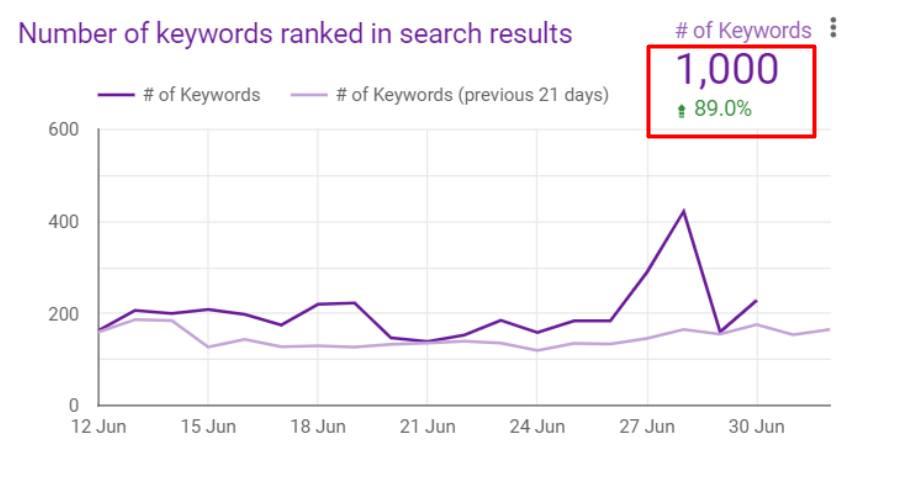 Keyword Ranking Results