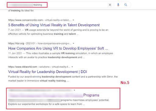 Page 1 of Google